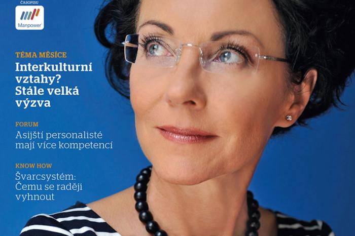 Titulní strana časopisu HR forum. Na obálce Libuše Šmuclerová.