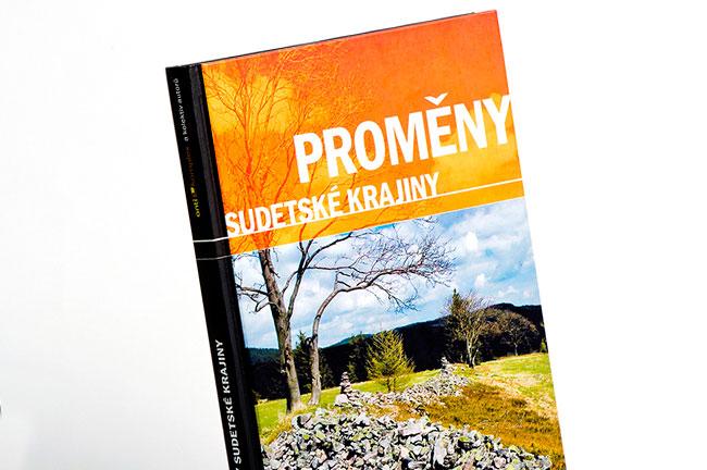 Grafický návrh a sazba knihy Proměny Sudetské krajiny (Antikomplex)
