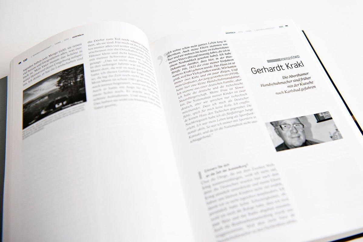 kniha Znovuobjevené Krušnohoří - grafický návrh knihy, sazba knihy