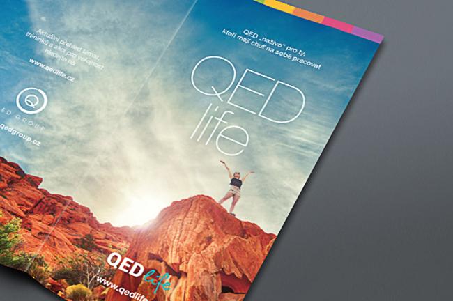 grafický návrh a sazba letáku pro QED